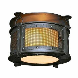 Steel Partners Rogue River 2-Light Semi Flush Mount