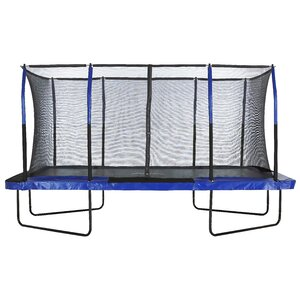 Upper Bounceu00ae Easy Assemble Mega 8u2019 X 14u2019 Rectangular Trampoline, with Fiber Flex Enclosure System