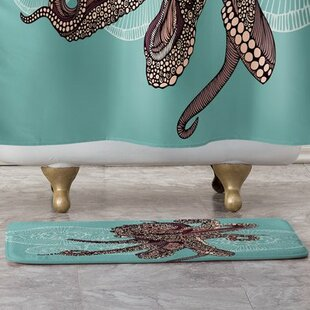 Octopus Bloom Bath Rug By East Urban Home