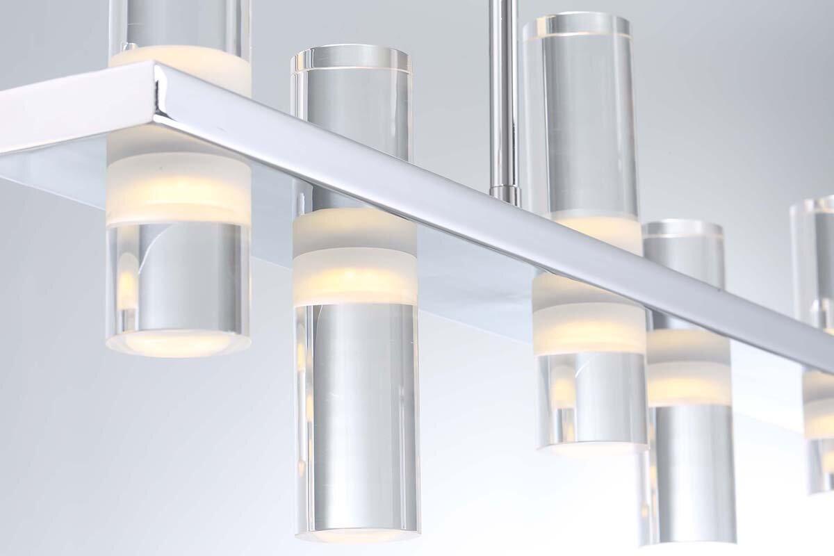 Latitude Run Marzano Linear 8-Light LED Kitchen Island Pendant ...