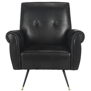 Richardson Retro Mid Century Faux Leather Armchair by Willa Arlo Interiors