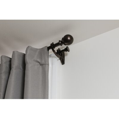 Umbra Diverge Double Curtain Rod Size: 48 - 88 W, Color: Auburn Bronze