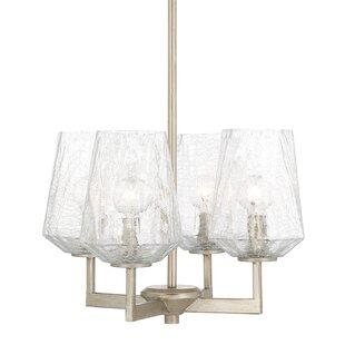 Whetsel 4-Light Shaded Chandelier by Willa Arlo Interiors