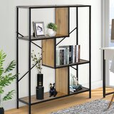 Mickel 45.2 H x 31.5 W Metal Etagere Bookcase by 17 Stories