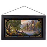 Disneys Beauty and The Beast II by Thomas Kinkade - Picture Frame Painting Print on Glass
