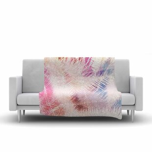 Cafelab Sweet Tropical Abstract Fleece Blanket By East Urban Home