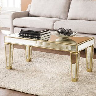 Online Reviews Paulornette Mirrored Coffee Table By House of Hampton
