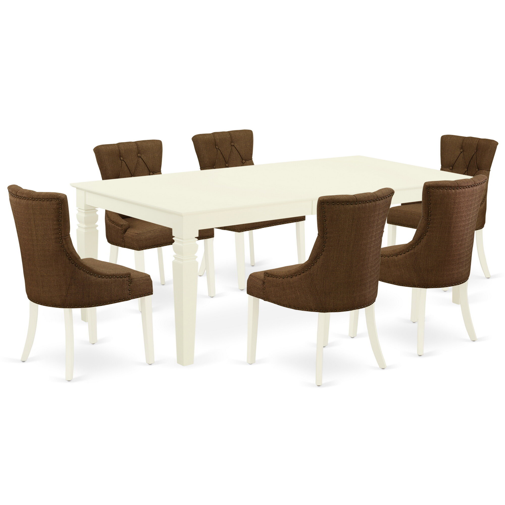 Winston Porter Ahull 7 Piece Extendable Solid Wood Dining Set Wayfair