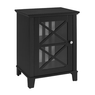 Bridwell Stripe 1 Door Accent Cabinet by Alcott Hill