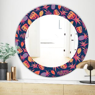 Tropical Mood Pineapple 1 Traditional Wall Mirror by East Urban Home
