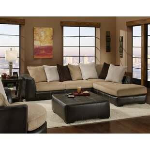 Lusty Right Hand Facing Sectional with Ottoman
