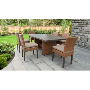 Medina 7 Piece Dining Set with Cushions