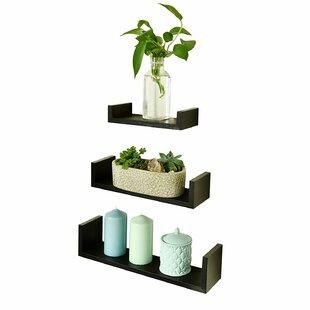 Check Prices U Shape 3 Piece Floating Shelf Set ByWelland LLC