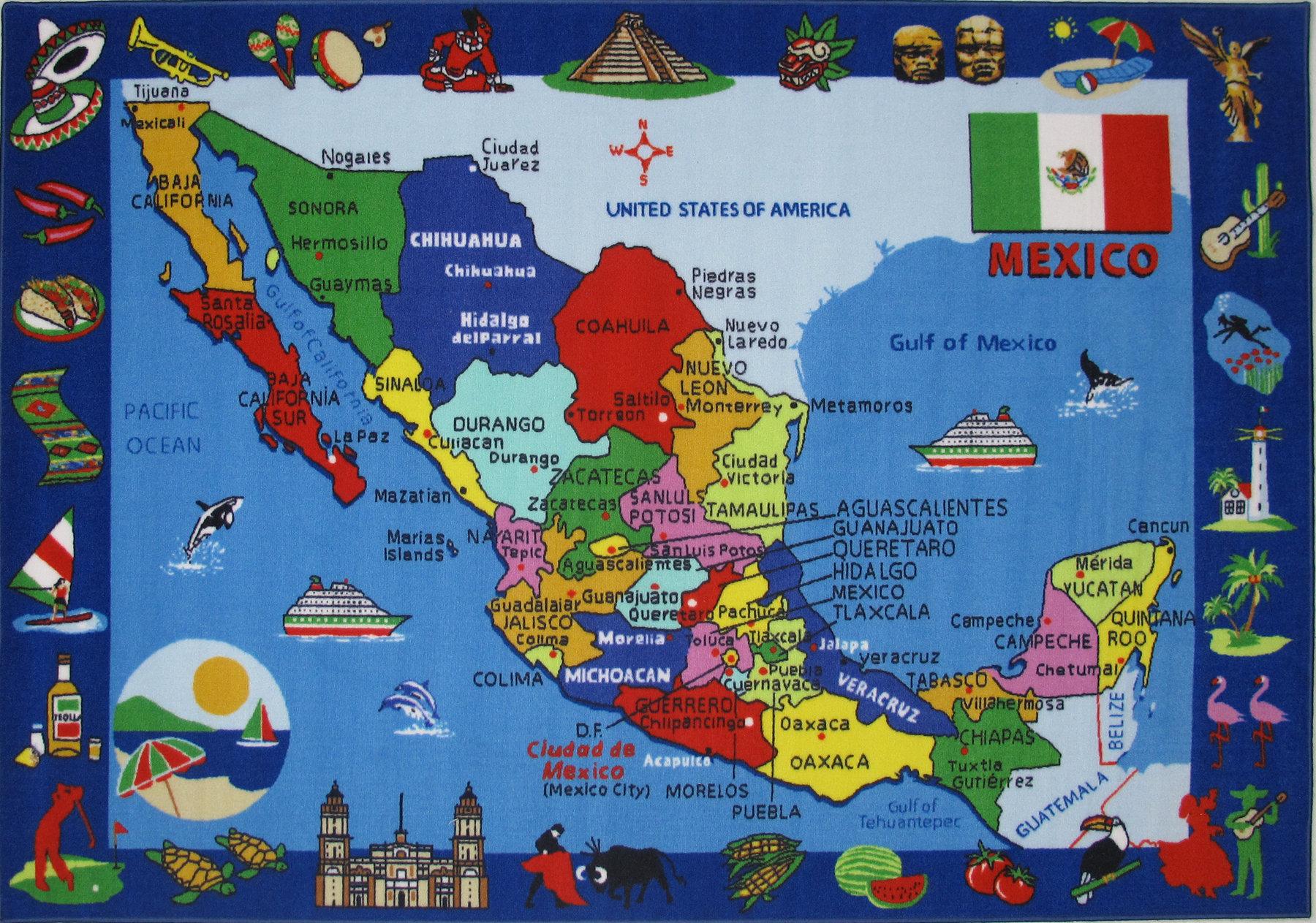 Corina Map of Mexico Kids Rug on chiapas mexico, nayarit mexico, map of new york, map of the united states, san carlos mexico, puebla mexico, oaxaca mexico, huatulco mexico, map of germany, map of europe, map of virginia, map of ohio, map of florida, map of south america, map of canada, taxco mexico, map of us, mazatlan mexico, cities in mexico, map of africa, map of the world, map of usa, map of georgia, map of california, manzanillo mexico, guadalajara mexico, detailed map mexico, map of italy, jalisco mexico, michoacan mexico, map of china, aguascalientes mexico, queretaro mexico, sinaloa mexico, leon mexico, punta mita mexico, map of texas, tulum mexico, map of north carolina,