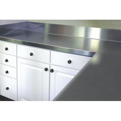 """Stainless Steel Counter Top With Backsplash A-line By Advance Tabco Size: 6.5"""" H X 72"""" W X 30"""" D"""