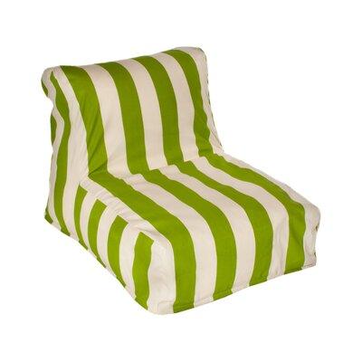Beachcrest Home Merrill Bean Bag Lounger Upholstery: Sage/Off-White