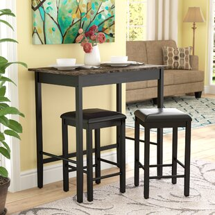 Forge 3 Piece Dining Set Andover Mills