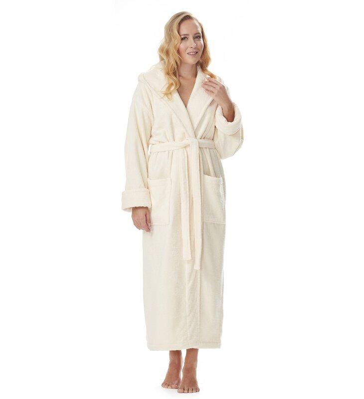 5fd1985947 Red Barrel Studio Hovis 100% Cotton Terry Cloth Bathrobe