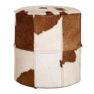 Eden Leather Pouffe By Union Rustic