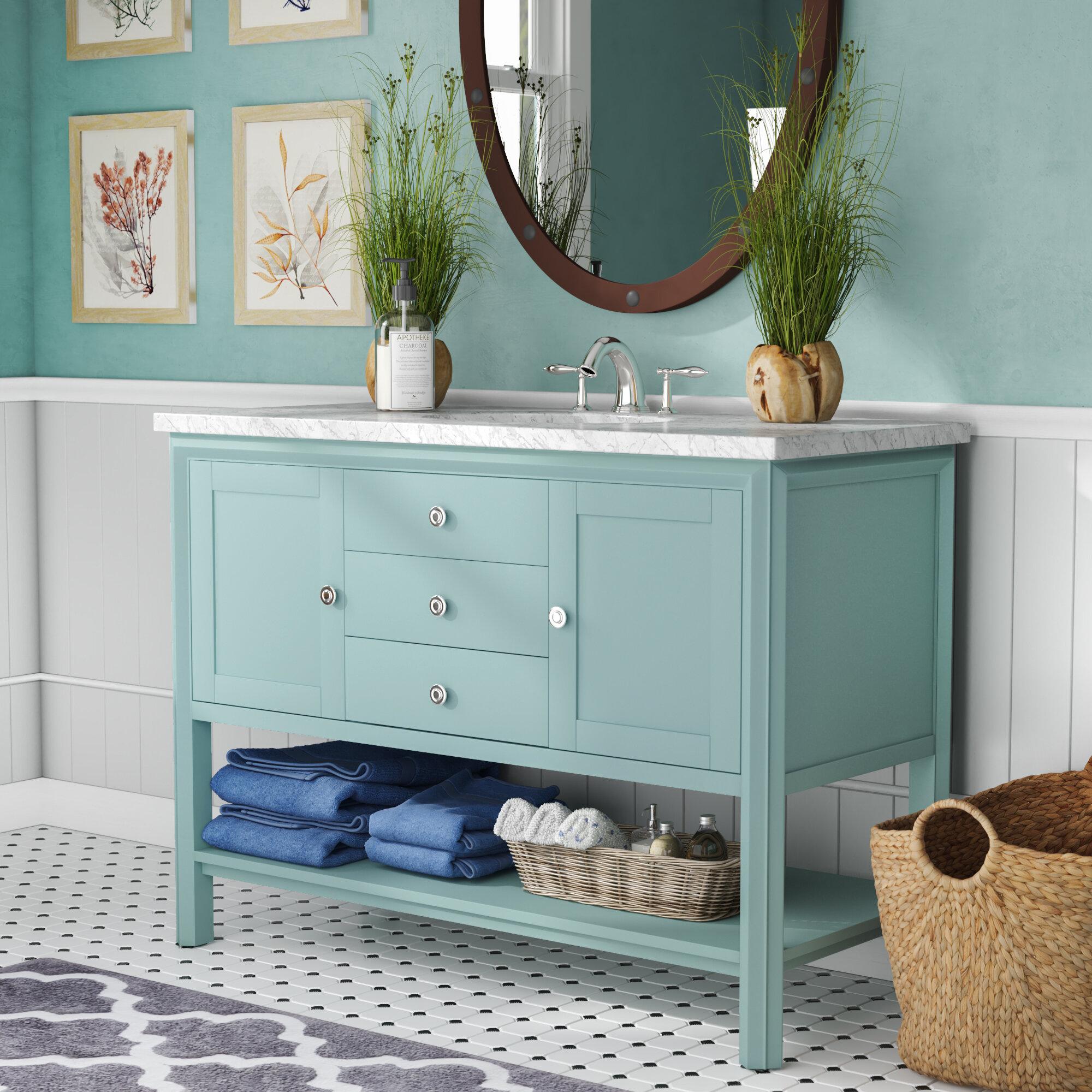 Beachcrest Home Susannah 48 Single Bathroom Vanity Set Reviews Wayfair