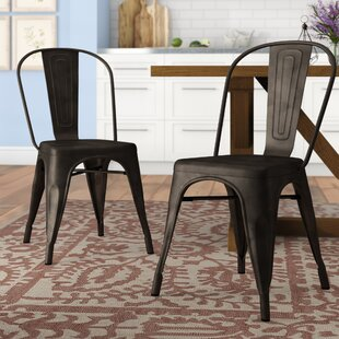 Drummond Rust Metal Dining Chair (Set of ..