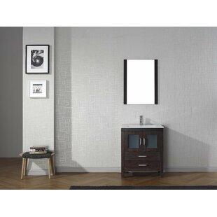 Frausto 28 Single Bathroom Vanity Set with Mirror By Mercury Row