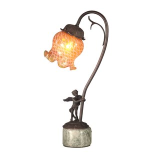 Decorative Arts Generous Signed Porcelain And Brass Cherub Angel Table Lamp With Four Lights