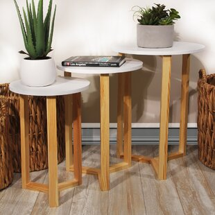 George Oliver Coulombe Nested Round 3 Piece Coffee Table Set
