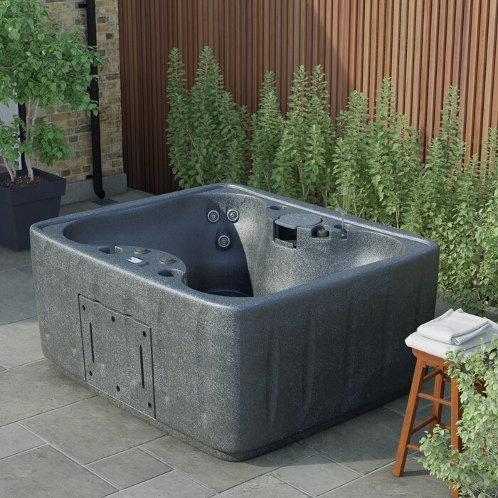 Select 150 4-Person 12-Jet Plug and Play Hot Tub with 12 Stainless Jets and LED Waterfall
