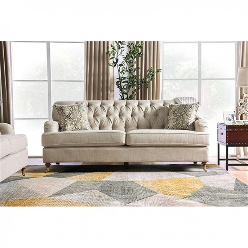 Mutsumi Home Studio Callum 84 5 Round Arm Sofa Wayfair