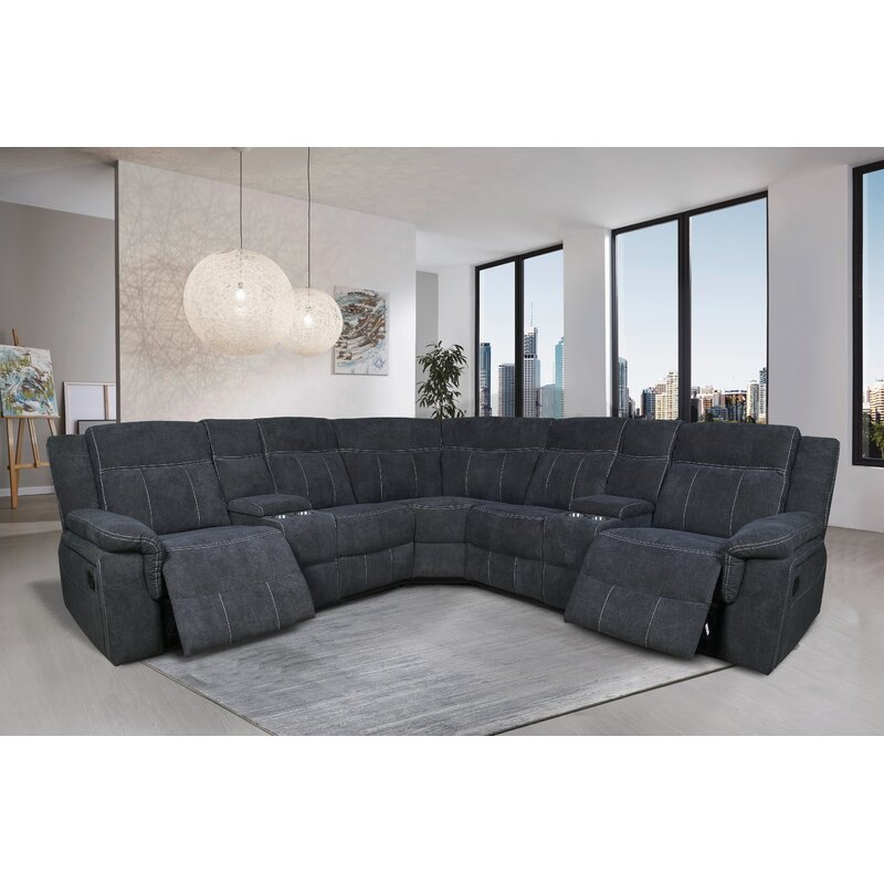 Latitude Run Borgny 94 5 Wide Symmetrical Reclining Corner Sectional Wayfair