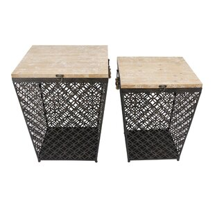 Hartigan 2 Piece Metal End Table Set by Red Barrel Studio