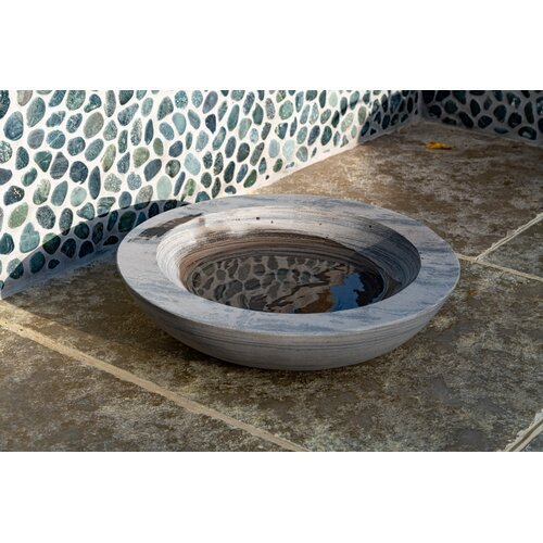 Akeem Rainbow Sandstone Birdbath Dakota Fields
