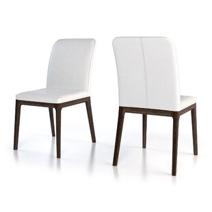 Hubbard Genuine Leather Upholstered Dining Chair (Set of 2)