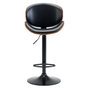 Bair Adjustable Height Swivel Bar Stool by George Oliver New