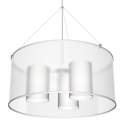 Seascape Lampsthree In One 3 Light Shaded Drum Chandelier Seascape Lamps Shade Color White Dailymail