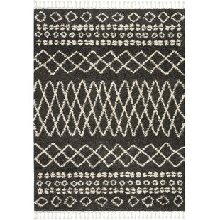 Shop For Iverson Moroccan Tribal Black/Beige Area Rug By Union Rustic