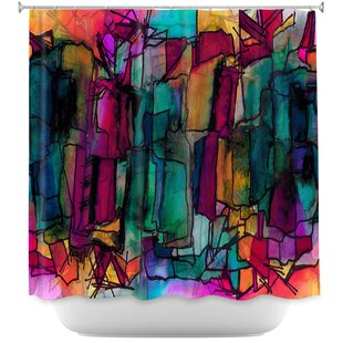 Facets of The Self 1 Shower Curtain by East Urban Home