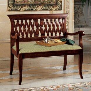 Design Toscano Mahogany Bench