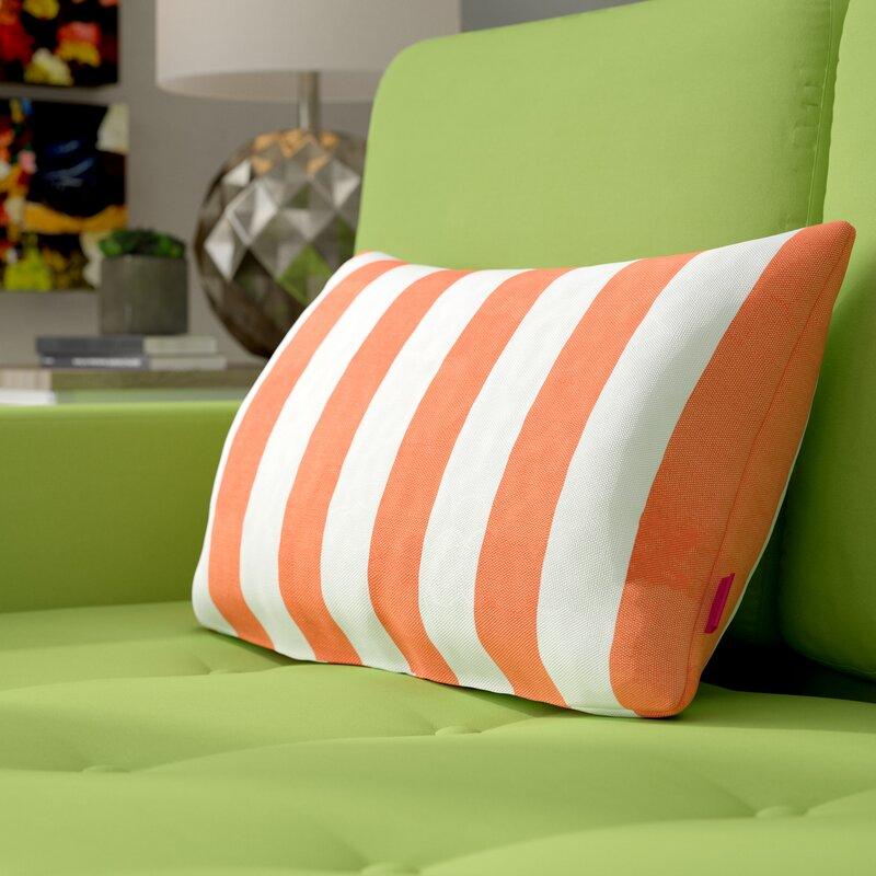 Ebern Designs Mayle Rectangular Striped Indoor Outdoor Lumbar Pillow Reviews Wayfair