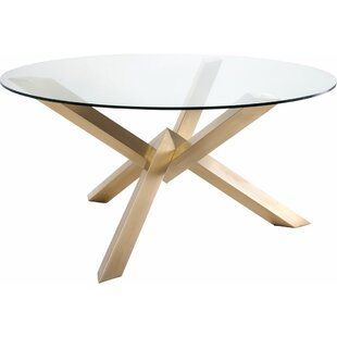 Everly Quinn Fortson Glass Dining Table