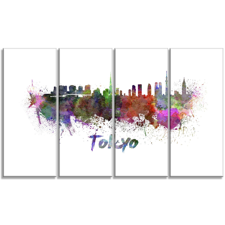 Designart Tokyo Skyline Cityscape 4 Piece Painting Print On Wrapped Canvas Set Wayfair