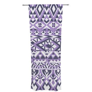 Tribal Simplicity By Pom Graphic Design Sheer Rod Pocket Curtain Panels (Set Of 2) by East Urban Home