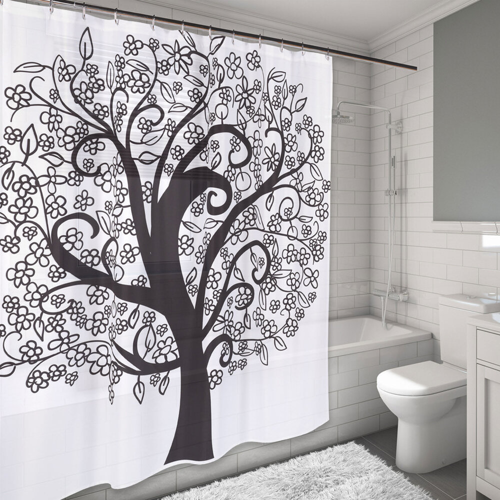 Sweet Home Collection The Tree Of Life Water Resistant Shower Curtain