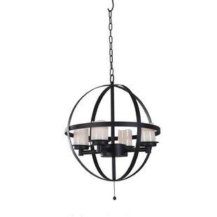 Berea Round 4-Light LED Globe Chandelier by Gracie Oaks