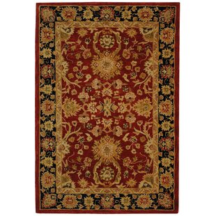 Hand-Tufted/Hand-Hooked Red/Navy Area Rug by Safavieh
