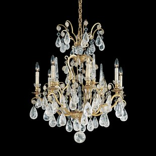 Versailles Rock Crystal 8-Light Chandelier by Schonbek