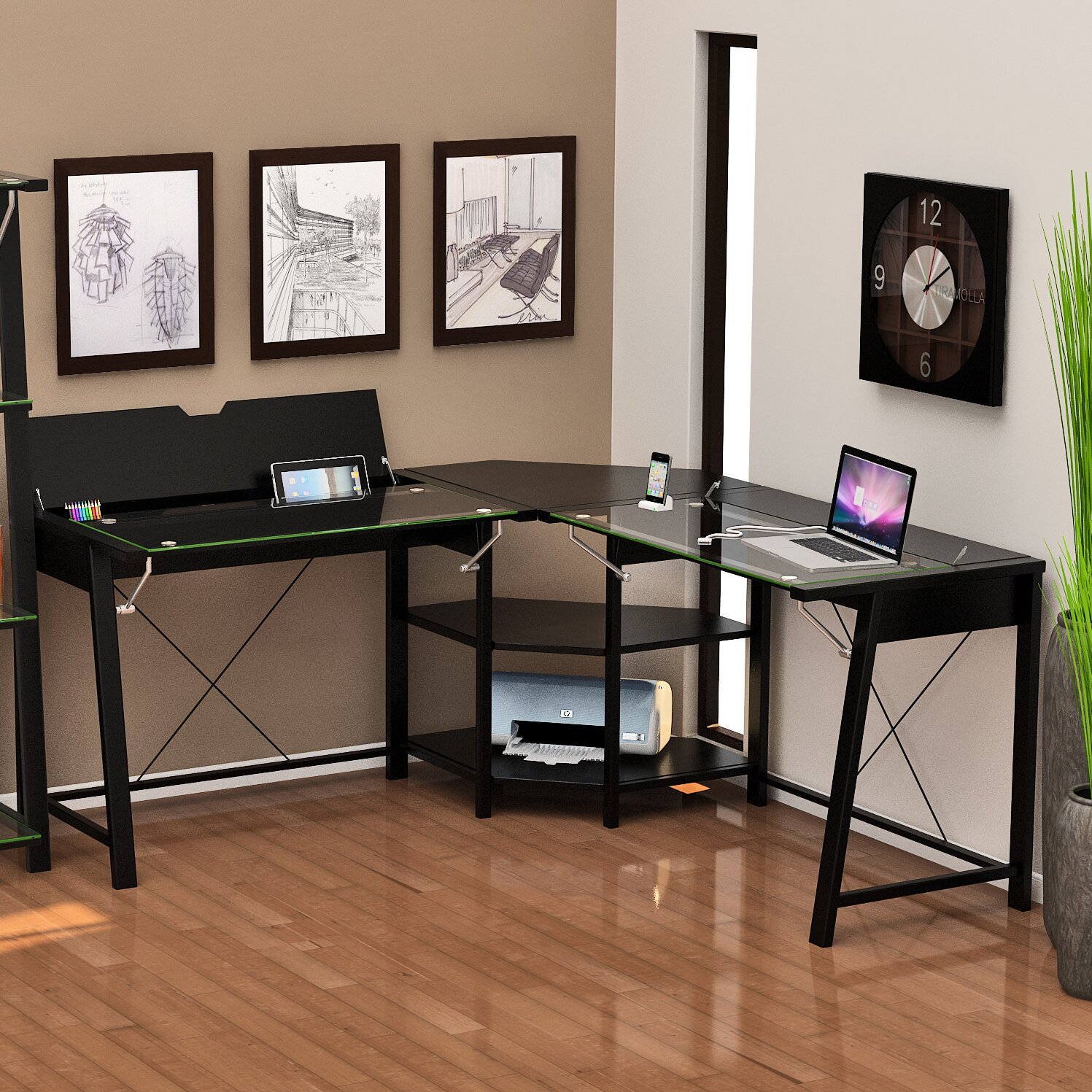 Z Line Designs Jaxson L Shape Writing Desk Amp Reviews Wayfair