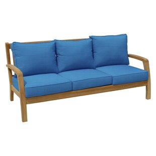 Ortega Teak Patio Sofa with Sunbrella Cushions