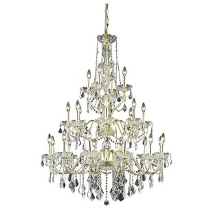 Great Price Thao 24-Light Crystal Chandelier By Rosdorf Park